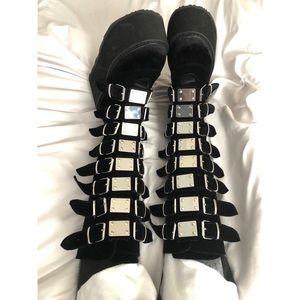 798c6d1d383 Demonia Shoes - ON HOLD Demonia Velvet Morpheus Platform Boots